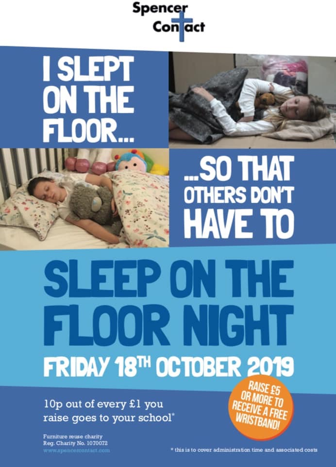 Sleep on the Floor Night – Spencer Contact